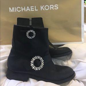 Michael Kors Viola Embellished Leather